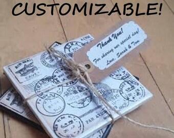 custom wedding favors custom coasters wedding coasters personalized coasters passport coasters travel coasters ceramic coaster stone