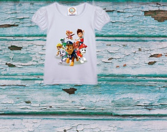 Paw Patrol shirt, girl  birthday shirt, girl shirt  baby shirts, toddler shirt, Heat Transfer shirt