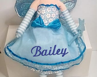 Cubbies Fairy Rag Doll Personalized & Embroidered Monogrammed Gift
