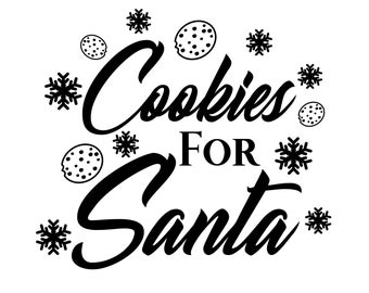 Cookies For Santa svg, Christmas svg, Santa svg, Elf svg, Santa Claus svg, Cookies svg, Cookie Plate svg, Winter svg, svg, dxf, eps, png.