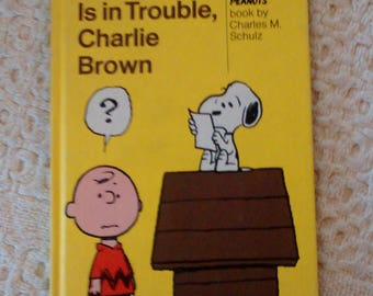 Thompson is in Trouble, Charlie Brown by Charles M Schulz, 1973 Hardcover