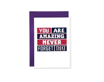 You Are Amazing Card | Supportive | Thank You | Friendship | Encouragement | Just Because | Thinking Of You | Blank | SE0256A6