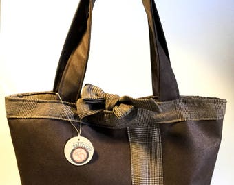Brown faux leather tote bag, handbag, Tote, bag, gift for her