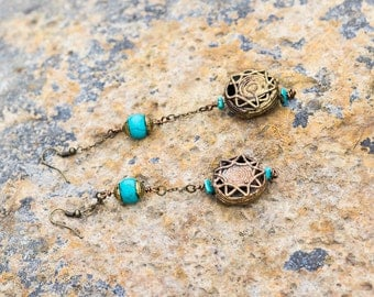 Sunny Turquoise Drop Earring
