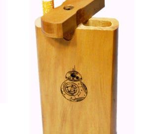 Star Wars BB8 Pattern Handmade Stash Box Dugout w/ Bat One Hitter, Tobacco Herb Box.