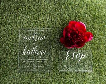 SAMPLE Acrylic wedding invitations, lucite wedding invitations, wedding invitations, acrylic invitations, invites, acrylic wedding signs