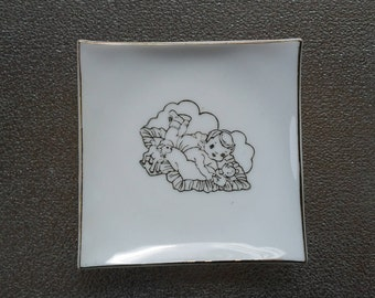 "Vintage Baby Plate 3.75"" by Elbro Japan NEW OLD STOCK"