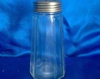 Vintage Glass Sugar Shaker