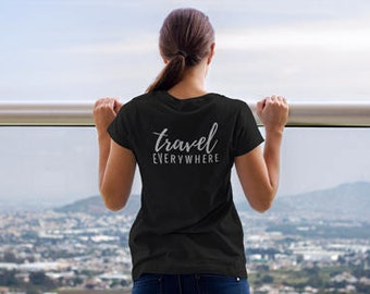 Triblend T-Shirt, Unisex, Multiple Colors, Vintage, Women's T-Shirt, Men's T-Shirt, Slogan Tee, Travel Everywhere, Traveler, Wanderlust