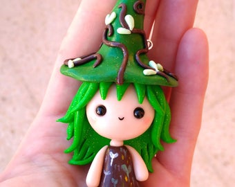 Planty Witchy WITCHIES COLLECTION Kawaii Necklace Keychain or Figure