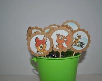 Bambi Cupcake Toppers / 12 Count