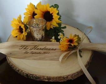Wooden Cake Knife - Handmade Wooden Knife - Wooden Wedding Cake Knife