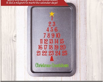SVG Christmas Advent Calendar / christmas tree countdown /  Cricut advent / Christmas advent / Cookie sheet advent calendar / PNG EPS
