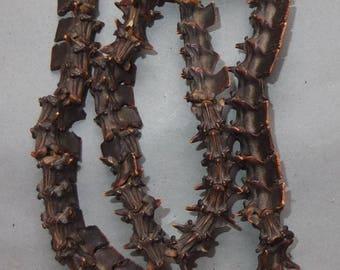 Ethnic Necklace Strand Snake Vertebrae Bone Beads Nepal, Shaman Guru Necklace, Tribal Folk Jewelry, FREE SHIPPING