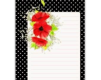 Poppy Journal Cards