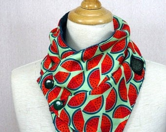 Watermelon patterned scarf