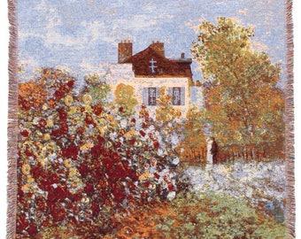 Monet Throw Blanket - House of Monet Tapestry Throw - 56x56 Belgian Tapestry Throw - Monet Design Throw Blanket - TT-7148