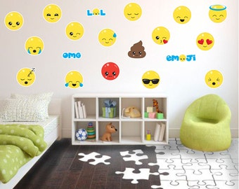 Emoji Wall Decals, Fabric Wall Decals, Kids Wall Decals, Playroom Wall  Decals, Part 24