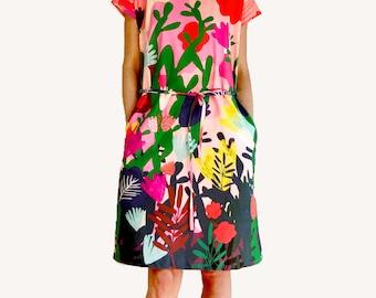 Mor Mor's Garden dress 100% cotton