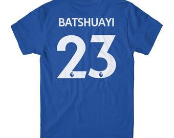 Michy Batshuayi Shirt Jersey T 2017 England Football Crew Neck Adult Blue T-Shirt