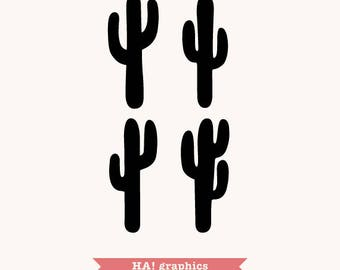 Cactus PNG, SVG and DXF Files - Succulent, Desert, Ethnic, Boho, Clipart, Vector, Instant Download