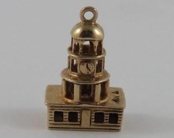 Town Clock Halifax N.S. 10K Gold Vintage Charm For Bracelet