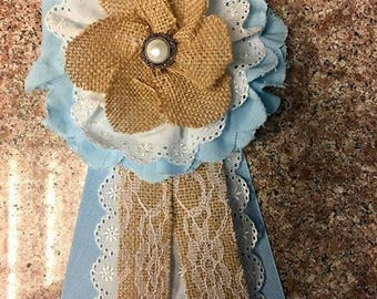 Shabby Chic Baby Shower Corsage