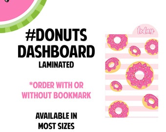 New!  #DONUTS Laminated Dashboard for Traveler's Notebook | .3mil | DB069