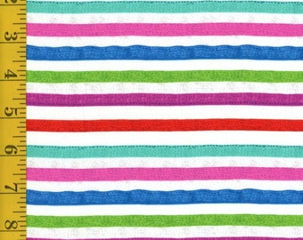 Quilting Treasures Sweet Season Multi Stripe fabric