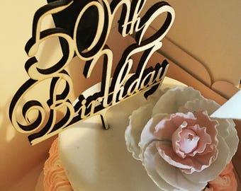 Birthday Cake topper, Personalised birthday cake topper, 30th birthday, 40th birthday, 21st birthday
