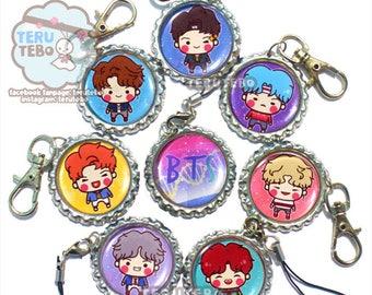 BTS DNA  / Bangtan Boys KPOP / bts kpop  / bts phone charms / bts keychains