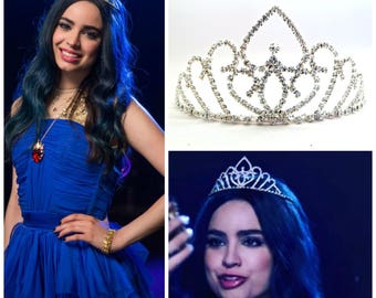 Evie Blue Dress Tiara, Disney Descendants, Evie Descendants Crown, Evie Blue Dress Crown, Evie Headpiece ,Evie Blue Dress costume Headpiece