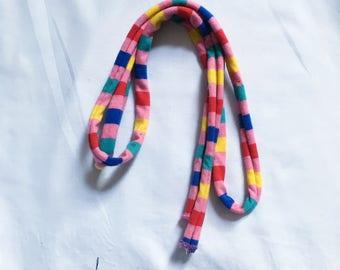 Vtg. Dead Stock AA Pink Stripe Belt Head Scarf/ Hair wrap