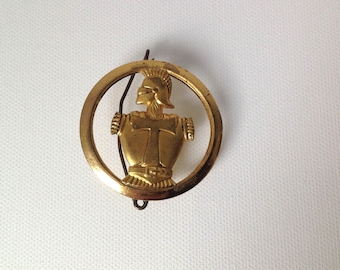 Antique  French Military and Catholic Brooch, christian brooch, religious jewelry