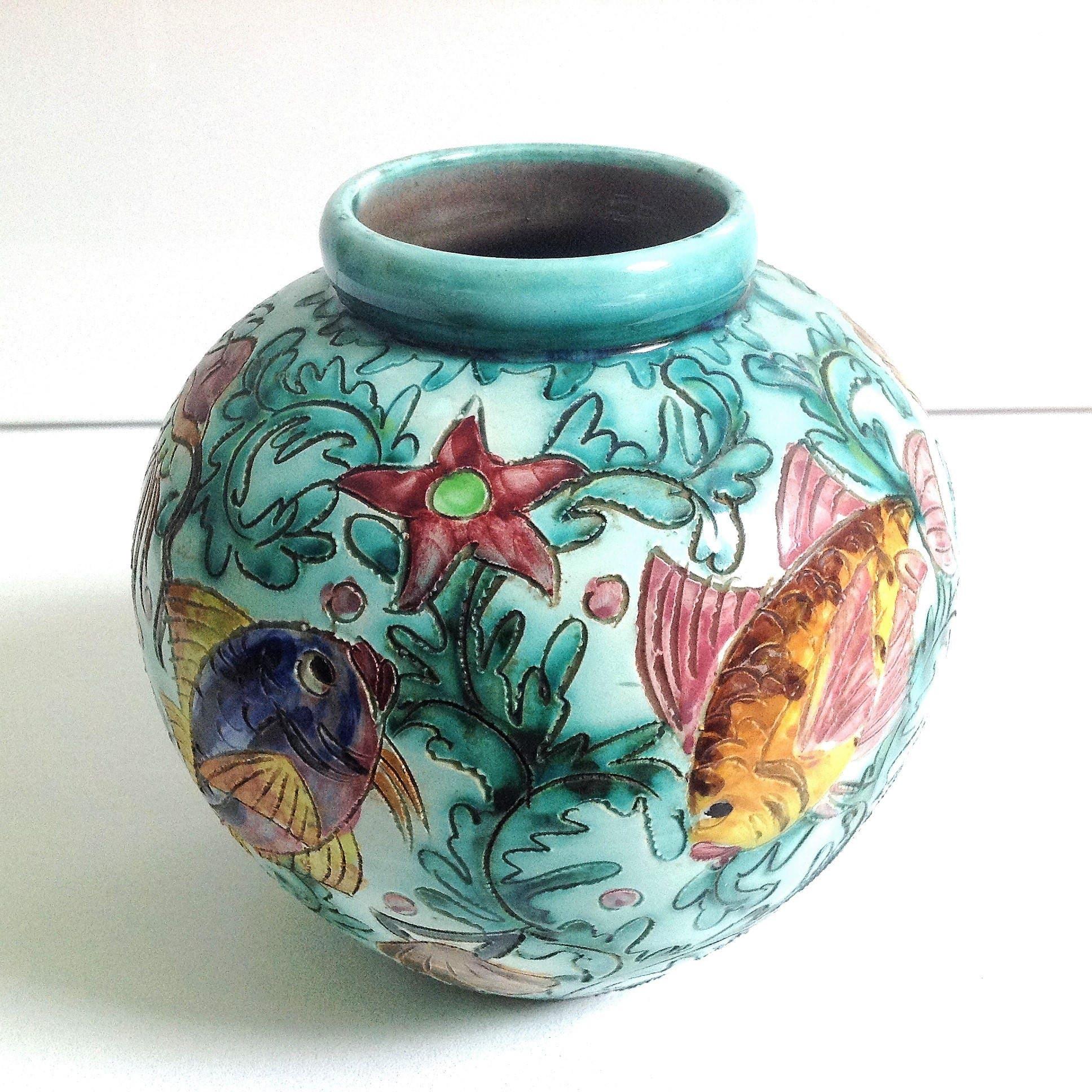 French vintage monaco cerart ceramic vase midcentury vase 1950s french vintage monaco cerart ceramic vase midcentury vase 1950s kitsch vase reviewsmspy