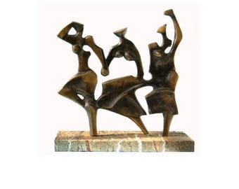 DANCE -  Unique bronze sculpture