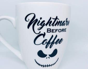 Nightmare Before Coffee Mug, Halloween Nightmare Before Coffee Mug, Christmas Coffee Mug, Halloween Coffee Mug, Christmas Coffee Mug, Jack