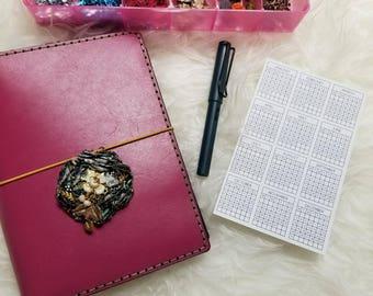 2018 Sticker Year Calendar for Planner, Bullet Journal, Traveler's Notebook