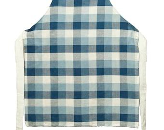 Children's Blue check apron