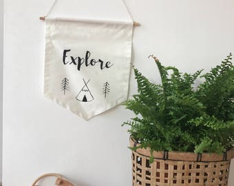 Explore wall banne.