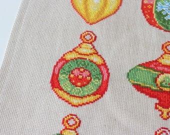 Christmas Bauble Cross Stitch Ornament Pattern Modern Cross Stitch Chart Instant Download PDF Xmas Cross Stitch Holiday Decoration DIY Gift