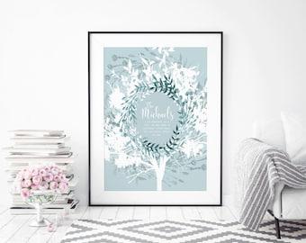 Family Gift, Family Tree Print, Family Tree Wall Art, Family Tree Art, Family Wall Art Bespoke Family Tree, Personalised Family Tree