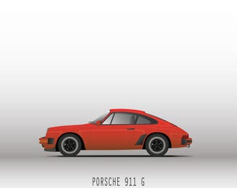 Porsche 911 Carrera Cup 3.2_Couleur Rouge_Affiche decorative_30x40cm