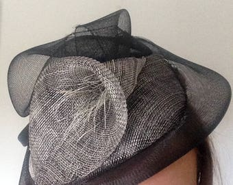 Black and grey  - Wedding Guest, Wedding hat