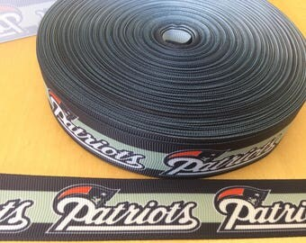 New England patriots Grosgrain ribbons, Patriots ribbons, Football Ribbons, football ribbon, yardline ribbons, 1 inch Grosgrain ribbons