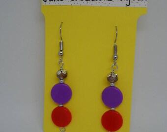 Earrings flat beads