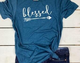 Thankful Shirt, Thankful mama, Thankful tshirt, Grateful Thankful Blessed Shirt, Blessed Mama, Blessed Mama shirts women, Cute Fall Clothes