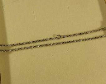 44.5 cm/3 mm pea necklace Silver 925 vintage SK932