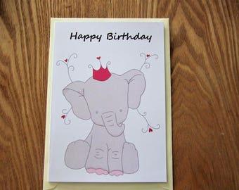 Elephant Birthday Card!