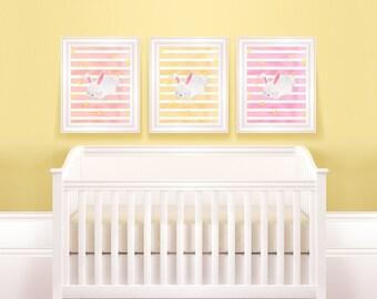 Animal Nursery Set | Bunny Baby Room, Easter Bunny Poster, Critter Bundle, Poster Bundle, Nursery Bundle, Animal Art Bundle, Woodland Bundle